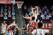 Southern California Trojans guard Drew Peterson (13) looks to pass during an NCAA men's basketball game against the Stanford Cardinal, Wednesday, March 3, 2021, in Los Angeles. USC defeated Stanford 79-42. (Jon Endow/Image of Sport)