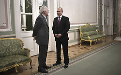 December 15, 2018 - St Petersburg, Russia - Russian President Vladimir Putin, right, chats with artistic director of the St Petersburg Philharmonic Orchestra Yury Temirkanov December 15, 2018 in St Petersburg, Russia. Putin attended a Gala concert held in honour Temirkanov on his 80th birthday during the Arts Square International Winter Festival. (Credit Image: © Alexei Nikolsky via ZUMA Wire)