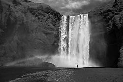 The waterfall, Skogafoss, Iceland-  Skógafoss