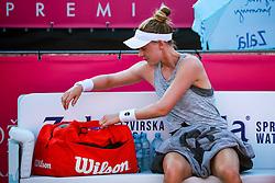 PORTOROZ, SLOVENIA - SEPTEMBER 18: Alison Riske of USA during the Semifinals of WTA 250 Zavarovalnica Sava Portoroz at SRC Marina, on September 18, 2021 in Portoroz / Portorose, Slovenia. Photo by Matic Klansek Velej / Sportida