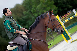 At home with Kamal Bahamdan (KSA) and Cezanne<br /> Tops Stables - Valkenswaard 2012<br /> © Dirk Caremans