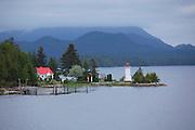 Dryad Point Lighthouse near Bella Bella, BC, British Columbia, Canada