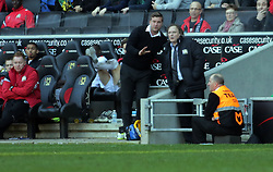 Milton Keynes Dons Manager, Karl Robinson talks with chairman Pete Winkleman from the touchline during the game - Photo mandatory by-line: Joe Dent/JMP - Mobile: 07966 386802 15/03/2014 - SPORT - FOOTBALL - Milton Keynes - Stadium MK - MK Dons v Peterborough United - Sky Bet League One