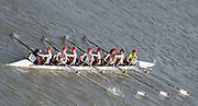 Chiswick, London, Great Britain.<br /> Pangbourne College, Girls School, First 8. Competing in the  2016 Schools Head of the River Race, Reverse Championship Course Mortlake to Putney. River Thames.<br /> <br /> Thursday  17/03/2016<br /> <br /> [Mandatory Credit: Peter SPURRIER;Intersport images]