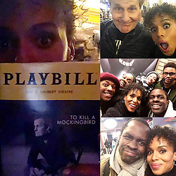 """Kerry Washington releases a photo on Instagram with the following caption: """"Last night we had the privilege of seeing @mockingbirdbway. I was so DEEPLY moved by this gorgeous new exploration of one of our most important and beloved narratives. The writing. The acting. The set design. I was transported. And inspired. And deeply grateful to all the artists and artisans who are telling this story. #ShubertAlleyNeighbors"""". Photo Credit: Instagram *** No USA Distribution *** For Editorial Use Only *** Not to be Published in Books or Photo Books ***  Please note: Fees charged by the agency are for the agency's services only, and do not, nor are they intended to, convey to the user any ownership of Copyright or License in the material. The agency does not claim any ownership including but not limited to Copyright or License in the attached material. By publishing this material you expressly agree to indemnify and to hold the agency and its directors, shareholders and employees harmless from any loss, claims, damages, demands, expenses (including legal fees), or any causes of action or allegation against the agency arising out of or connected in any way with publication of the material."""