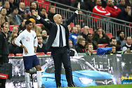 Italy manager Luigi Di Biagio during the Friendly match between England and Italy at Wembley Stadium, London, England on 27 March 2018. Picture by Toyin Oshodi.