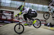 #26 (DARNAND Simba) FRA during practice at the 2019 UCI BMX Supercross World Cup in Manchester, Great Britain