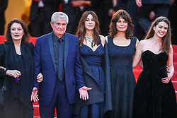 """Claude Lelouch, Anouk Aimee,, Marianne Denicourt, Monica Bellucci and Tess Lauvergne attend the screening of """"Les Plus Belles Annees D'Une Vie"""" during the 72nd annual Cannes Film Festival on May 18, 2019 in Cannes, France. Photo by Shootpix/ABACAPRESS.COM"""