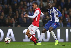 November 10, 2018 - Porto, Porto, Portugal - Porto's Malian forward Moussa Marega (R) in action with Sporting Braga's Brazilian defender Pablo Santos (L) during the Premier League 2018/19 match between FC Porto and SC Braga, at Dragao Stadium in Porto on November 9, 2018. (Credit Image: © Dpi/NurPhoto via ZUMA Press)