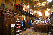 Interior of the Caru cu Bere (The Beer Cart) Beer hall and Restaurant, Bucharest, Romania