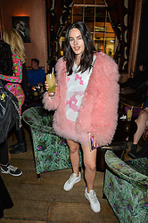 LOLA COCA at a party to celebrate the launch of fashion retailer WeKoko.com held at Sketch, 9 Conduit Street, London on 13th April 2016.