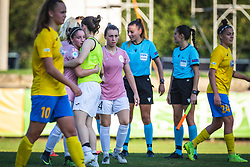 FC Nike players and ZNK Pomurje players after football match between ZNK Pomurje and FC Nike in 2nd Round of UWCL qualifying 2019/20, on Avgust 10, 2019 in Sportni Park Beltinci, Beltinci, Slovenia. Photo by Blaž Weindorfer / Sportida