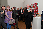 FLORRIE CLARKE; CHARLES SAUMERAZ-SMITH, THE LAUNCH OF THE KRUG HAPPINESS EXHIBITION AT THE ROYAL ACADEMY, London. 12 December 2011.