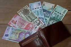 May 1, 2019 - Asuncion, Paraguay - Paraguayan national currency, guarani banknotes of 2,000 5,000 10,000 20,000 50,000 and 100,000. (Credit Image: © Andre M. Chang/ZUMA Wire)