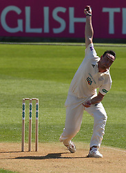 April 20, 2018 - London, Greater London, United Kingdom - Kyle Abbott of Hampshire ccc .during Specsavers County Championship - Division One, day one match between Surrey CCC and Hampshire CCC at Kia Oval, London, England on 20 April 2018. (Credit Image: © Kieran Galvin/NurPhoto via ZUMA Press)