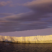 Antarctica, Tabular iceberg in Iceberg Alley in the Weddell Sea. Antarctica Peninsula.