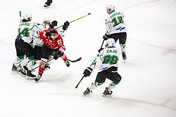 MIHA Zajc vs SVETINA Erik during summer Hockey League match between HK SZ Olimpija and HDD SIJ Jesenice, on September 12, 2020 in Ice Arena Bled, Bled, Slovenia. Photo by Peter Podobnik / Sportida