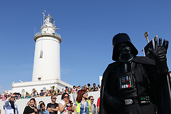 May 5, 2018 - May 5, 2018 (malaga) Thousands of people gather in Malaga to see the charity Star Wars parade organized by the Andres Olivares Foundation.The members of the Legion 501, More than 200 uniformed soldiers have left the Palm of Surprises the Android R2-KT, unique in Europe. After them, 170 members of the Legion 501, ten of the Mandalorian Mercs and 48 cadets of the Galactic (Credit Image: © Lorenzo Carnero via ZUMA Wire)