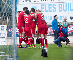 Aberdeen's Ryan Christie (8) cele scoring their first goal. half  time : St Johnstone 0 v 2 Aberdeen. SPFL Ladbrokes Premiership game played 15/4/2017 at St Johnstone's home ground, McDiarmid Park.