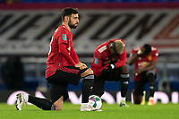 Football - 2020 / 2021 League Cup - Quarter-Final - Everton vs Manchester United - Goodison Park<br /> <br /> Manchester United's Bruno Fernandes takes the knee before the match<br /> <br /> <br /> COLORSPORT/TERRY DONNELLY