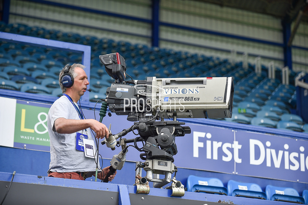 Sky Cameras at Fratton Park during the EFL Sky Bet League 1 match between Portsmouth and Coventry City at Fratton Park, Portsmouth, England on 22 April 2019.