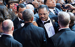 US President Barack Obama greets Reverend Jesse Jackson at the Congressional Black Caucus (CBC) Foundation's 46th Annual Legislative Conference on September 17, 2016 in Washington, DC, USA. Photo by Olivier Douliery/Pool/ABACAPRESS.COM