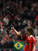 20100223: LISBON, PORTUGAL - SL Benfica vs Hertha Berlin: Europa League 2009/2010 - Round of 32 - 2nd leg. In picture: David Luiz (Benfica). PHOTO: Alvaro Isidoro/CITYFILES
