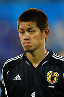 "12/08/04 - THESSALONIKI - GREECE -  - JAPAN OLYMPIC MENS FOOTBALL TEAM -  <br />First match Group B - JAPAN () Vs. PARAGUAY -<br />At the THESSALONIKI ""KAFTATZOGLIO STADIUM"".<br />Min.= '   Japan player N*1 SOGAHATA Hitoshi<br />© Gabriel Piko / Piko-Press"