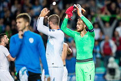 Jan Oblak of Slovenia during the 2020 UEFA European Championships group G qualifying match between Slovenia and Israel at SRC Stozice on September 9, 2019 in Ljubljana, Slovenia. Photo by Grega Valancic / Sportida