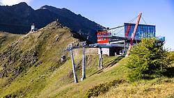 THEMENBILD - Adlerlounge (2421m), Bergstation der Einseilumlaufbahn Kals 1 auf das Cimaross im Grossglockner Resort Kals–Matrei am Sonntag 9. August 2020 // Adlerlounge (2421m), mountain station of the Kals 1 monocable gondola to the Cimaross in the Grossglockner Resort Kals – Matrei on Sunday 9 August 2020. EXPA Pictures © 2020, PhotoCredit: EXPA/ Johann Groder