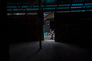 A boy plays badminton in the village of Loklahung, near Loksado, South Kalimantan, Indonesia. (February 28, 2017)