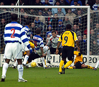 Photo. Chris Ratcliffe<br /> QPR v Rushden & Diamonds. Nationwide Division 2. 03/01/2004<br /> kevin Gallen turns in QPR's opening goal.