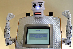 """June 1, 2017 - inconnu - A robot priest is ready for duty – with the blessing of a church.The BlessU-2, that offers robotic benedictions to its fleshy parishioners.It has a touch-screen chest and a pre-programmed """"blessing movement."""" It offers blessings in a choice of German, English, French, Spanish or Polish. Worshippers can also choose between a male or female voice. The robot raises its arms, flashes lights, recites a biblical verse and says: """"God bless and protect you."""" If requested, it will provide a printout of its words. A backup robot is available in case of breakdown.It has been installed at the Hesse and Nasaau protestant church in Wittenberg, Germany.The church's Stephan Krebs said the idea of the robot was to provoke debate.He told Britain's Guardian newspaper:"""" People from the street are curious, amused and interested. """"They are really taken with it, and are very positive. But inside the church some people think we want to replace human pastors with machines. Those that are church-oriented are more critical.""""Krebs and his colleagues are collecting responses for further analysis but he did not anticipate robots presenting a solution to a Europe-wide shortage of priests.He admitted a robot could never be a substitute for pastoral care.BlessU-2 is part of an exhibit celebrating the 500th anniversary of the Protestant Reformation led by Martin Luther in 1517,Wittenberg, which was the place most closely associated with Martin Luther and the birth of Protestantism # UN ROBOT PRETRE EN ALLEMAGNE (Credit Image: © Visual via ZUMA Press)"""