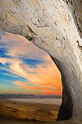 Brendan Nicholson on a project. Silver Island Cave, AKA the Poptire, UT