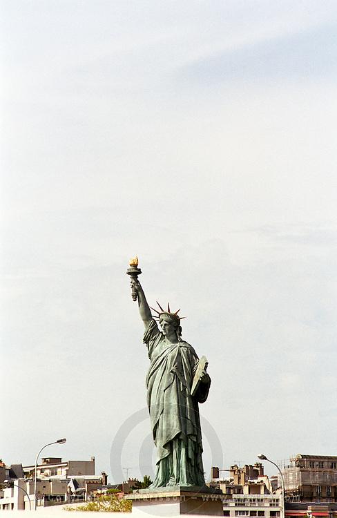 The statue of Liberty copy in Paris Paris, France.