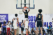 NORTH AUGUSTA, SC. July 10, 2019. Cameron Bryant 2020 #4 of A.O.T. 17U at Nike Peach Jam in North Augusta, SC. <br /> NOTE TO USER: Mandatory Copyright Notice: Photo by Jon Lopez / Nike