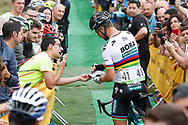 Peter Sagan (SVK, Bora Hansgrohe) during the 73th Edition of the 2018 Tour of Spain, Vuelta Espana 2018, Stage 15 cycling race, 15th stage Ribera de Arriba - Lagos de Covadonga 178,2 km on September 9, 2018 in Spain - Photo Luis Angel Gomez/ BettiniPhoto / ProSportsImages / DPPI