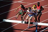 Friidrett, 6. august 2005, VM Helsinki, <br /> World Championship in Athletics<br /> Docus Inzikuru, UGa, 3000 m steeplechase and Yekaterina Volkova, RUS