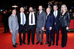 Hutch Parker, Simon Kinberg, James Mangold, Patrick Stewart and Hugh Jackman attending the Logan Premiere during the 67th Berlin International Film Festival (Berlinale) in Berlin, Germany on Februay 17, 2017. Photo by Aurore Marechal/ABACAPRESS.COM