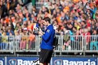 EINDHOVEN - Teleurstelling bij keeper Jaap Stockmann van Bloemendaal tijdens de finale play off wedstrijd tussen de mannen van Oranje-Zwart en Bloemendaal. OZ wint met 3-2 en de titel. ANP KOEN SUYK