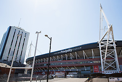 Cardiff, UK. 2nd May, 2017. The Principality Stadium, formerly known as the Millennium Stadium, is the national stadium of Wales. The stadium hosts the Wales national rugby union team, some Wales national football team matches, speedway and concerts.