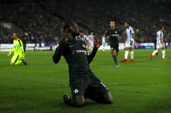 Chelsea's Tiemoue Bakayoko celebrates scoring his side's first goal of the game