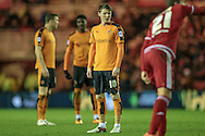 Joe Mason (Wolverhampton Wanderers) waits to take a free kick during the Sky Bet Championship match between Middlesbrough and Wolverhampton Wanderers at the Riverside Stadium, Middlesbrough, England on 4 March 2016. Photo by Mark P Doherty.