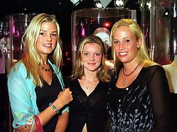 Left to right, MISS ISABELLE ANSTRUTHER-GOUGH-CALTHORPE, MISS MIMI MacCAW and LADY MARISA AGAR, at a party in London on 16th September 1999.MWK 20