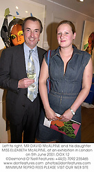 Left to right, MR DAVID McALPINE and his daughter MISS ELIZABETH McALPINE, at an exhibition in London on 5th June 2001.OOX 12
