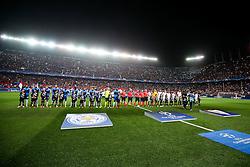 The teams line up - Rogan Thomson/JMP - 22/02/2017 - FOOTBALL - Estadio Ramon Sanchez Pizjuan - Seville, Spain - Sevilla FC v Leicester City - UEFA Champions League Round of 16, 1st Leg.