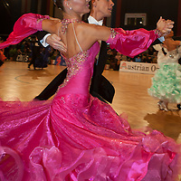 Benedetto Ferruggia and Claudia Kohler from Germany perform their dance during the IDSF World Standard Championships held at the Austrian Open Championships in Wien Stadthalle, Wien, Austria, Saturday, 15. November 2008. ATTILA VOLGYI