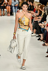 Kendall Jenner on the catwalk at Tod's Fashion Show at Milan Women's Fashion Week