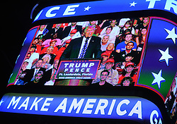 Republican presidential nominee Donald Trump speaks to supporters at a rally in the BB&T center, Ft Lauderdale, FL, USA, August 10, 2016. Photo by Dennis Van Tine/ABACAPRESS.COM