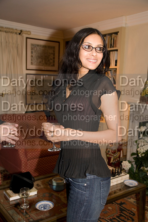 NANDANA SEN; Aatish Taseer  book launch party for his new book Stranger To History. Travel book asks what it means to be a Muslim in the 21st century. Hosted by Gillon Aitken. Kensington, London. 30 March 2009